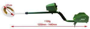 détecteur de métaux Deep Target de Seben, taille et poids