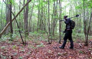détecteur métaux recherche forêt