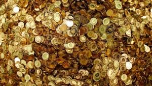 trésor pièces or